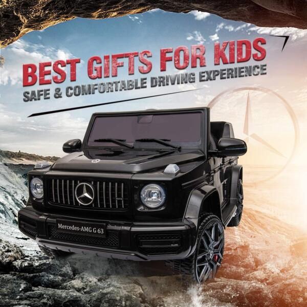 12V Mercedes-Benz AMG G63 Kids Ride On Cars Toys with Remote Control, Black 81zvhF4gRNL. AC SL1500