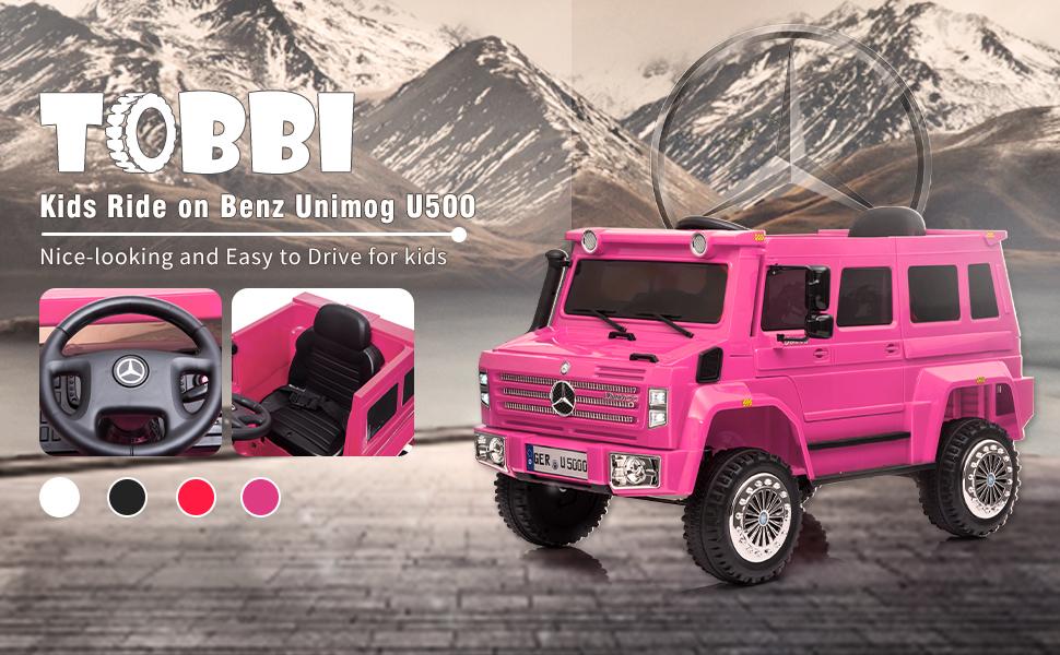 12V Mercedes Benz Unimog U500, Rose Red 82f91e04 3fe9 45e8 8ff6 e242c38150fa. CR00970600 PT0 SX970 V1
