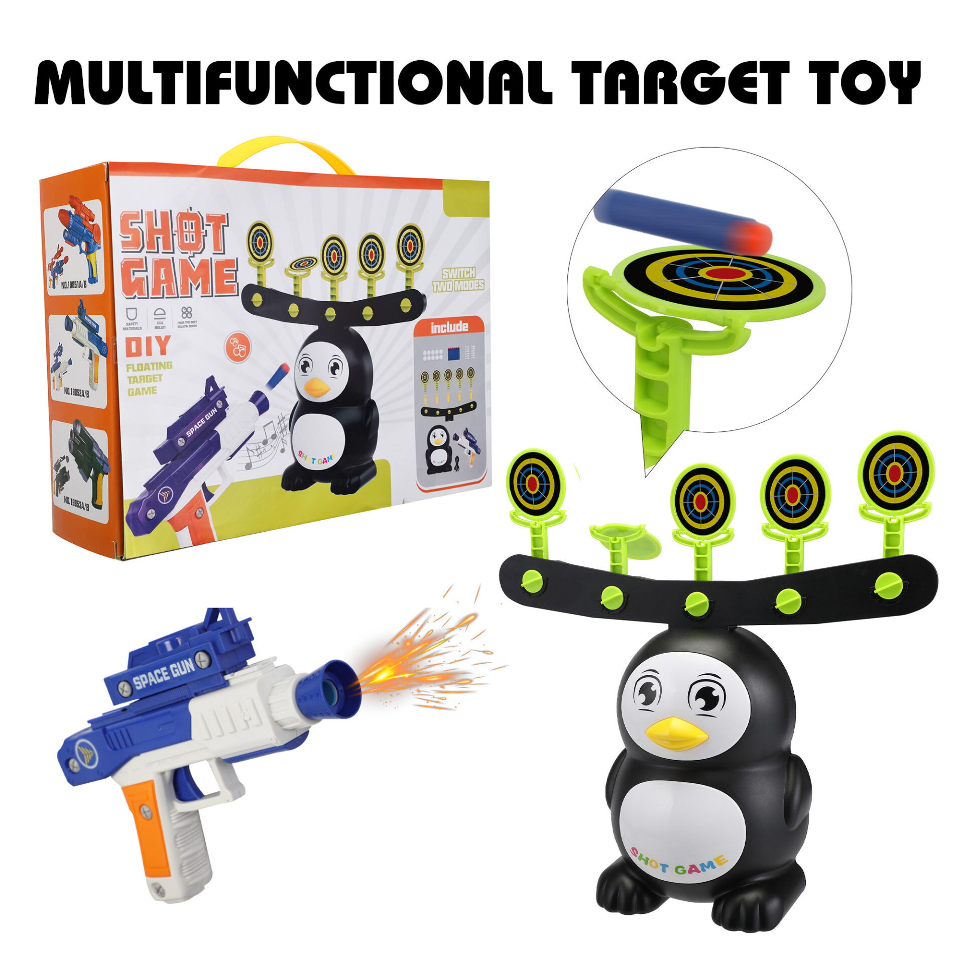 Penguin Shooting Games Target Practice Toys for Kids 9 1
