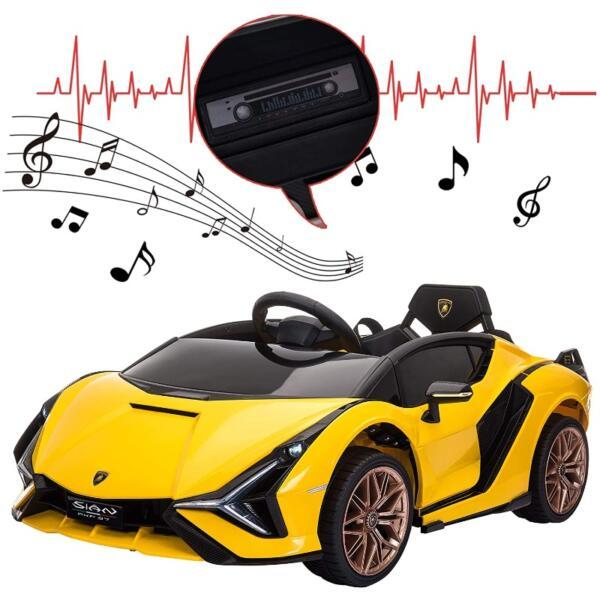 Licensed Lamborghini Sian Car Toy w/ Scissor Door 9 12