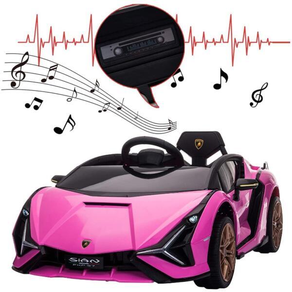 12V Kids Car Licensed Lamborghini Sian with Remote Control for Girls 9 13
