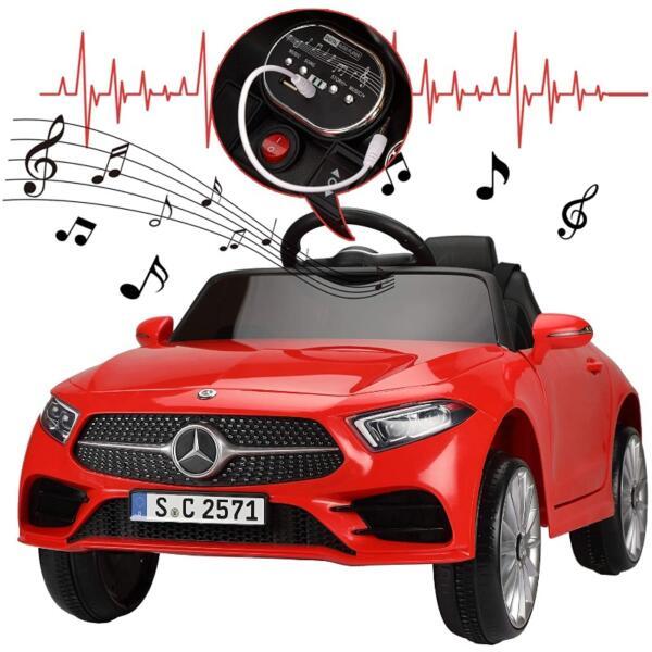 Licensed Mercedes Benz CLS 350 Ride On Car for Kids, Red 9 15