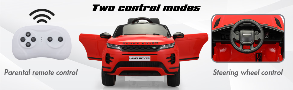 12V Land Rover Kids Power Wheels Ride On Toys With Remote, Red 9 18