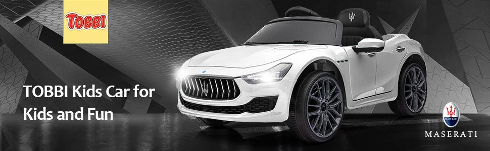 Maserati Kids Car 12V Ride On With Remote, White 9 24