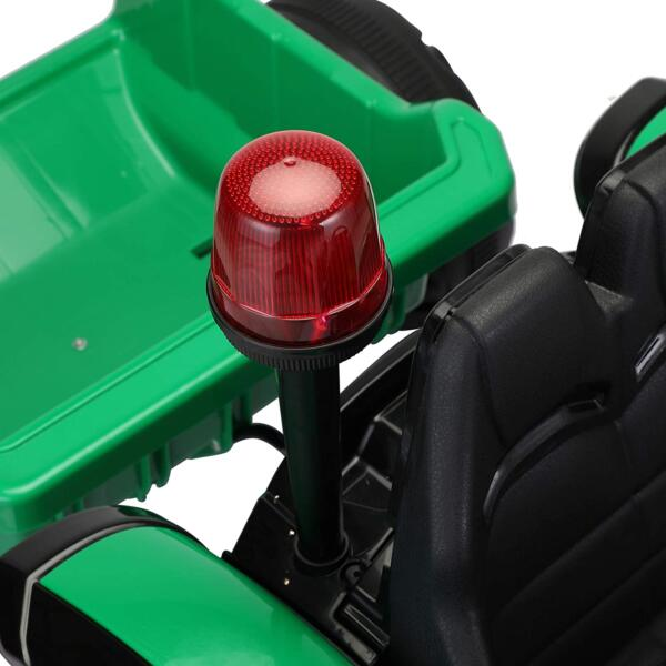 12V Electric Kids Ride on Tractor with Trailer for Boys and Girls, Jade Green 9 7
