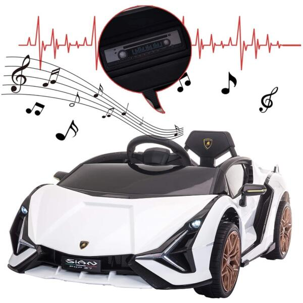 Licensed Lamborghini Sian 12V Children's Electric Ride On Car Toy 9 8