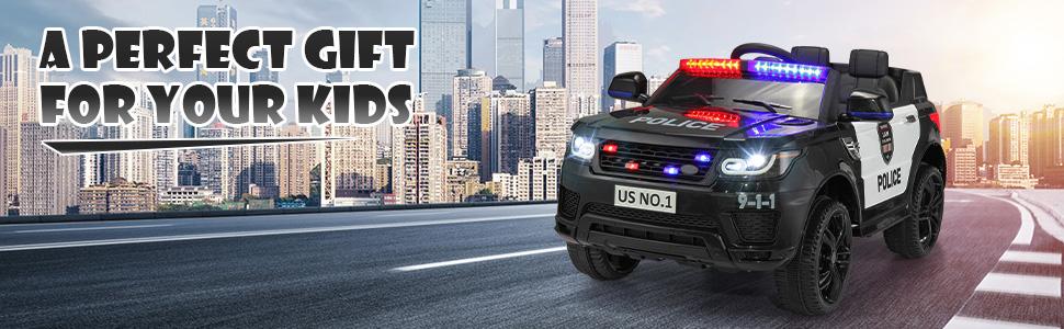 12V Kids Ride On Police Car, Black 91b78c3f a3ca 4314 8641 b10366d6cf92. CR00970300 PT0 SX970 V1