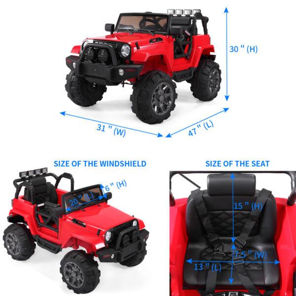 12V Kids Jeep Wrangler Electric Car W/ RC 9b338207 cc04 4681 a787 f9accc808c01 kids jeep