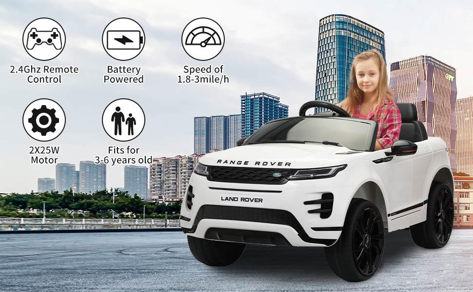 12V Land Rover Ride-on SUV Car for Kids, White 9d978a09 0ca1 44fa a89c 53679a55f902. CR00970600 PT0 SX970 V1