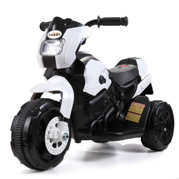 6V Battery Power Ride On Motorcycle for Kids, White TH17A0355 001 4