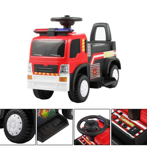 Ride On Fire Truck Car 6V Vehicle for Kids, Red TH17A042717