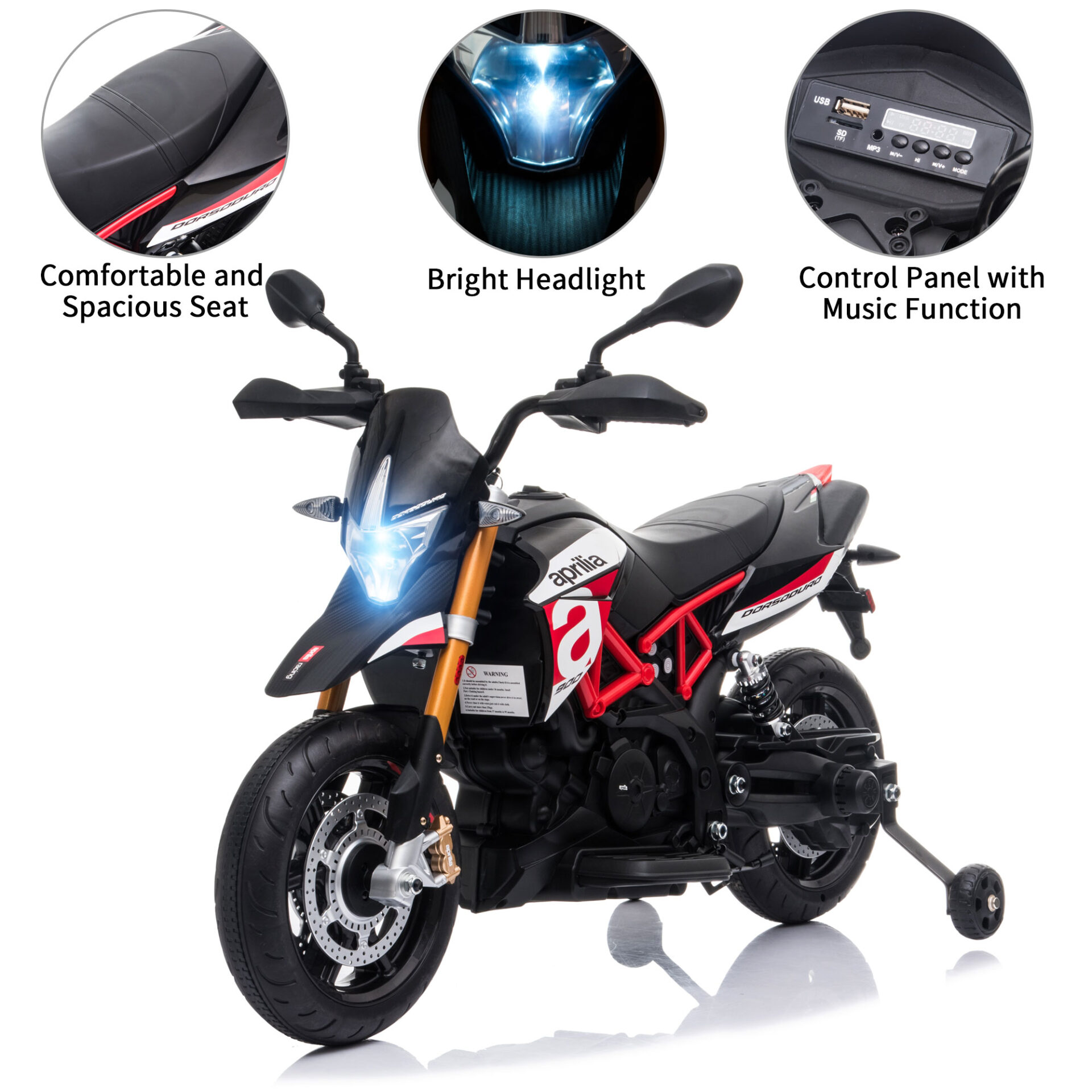12V kids motorcycle bike W/ Training Wheels TH17A0661 zt1