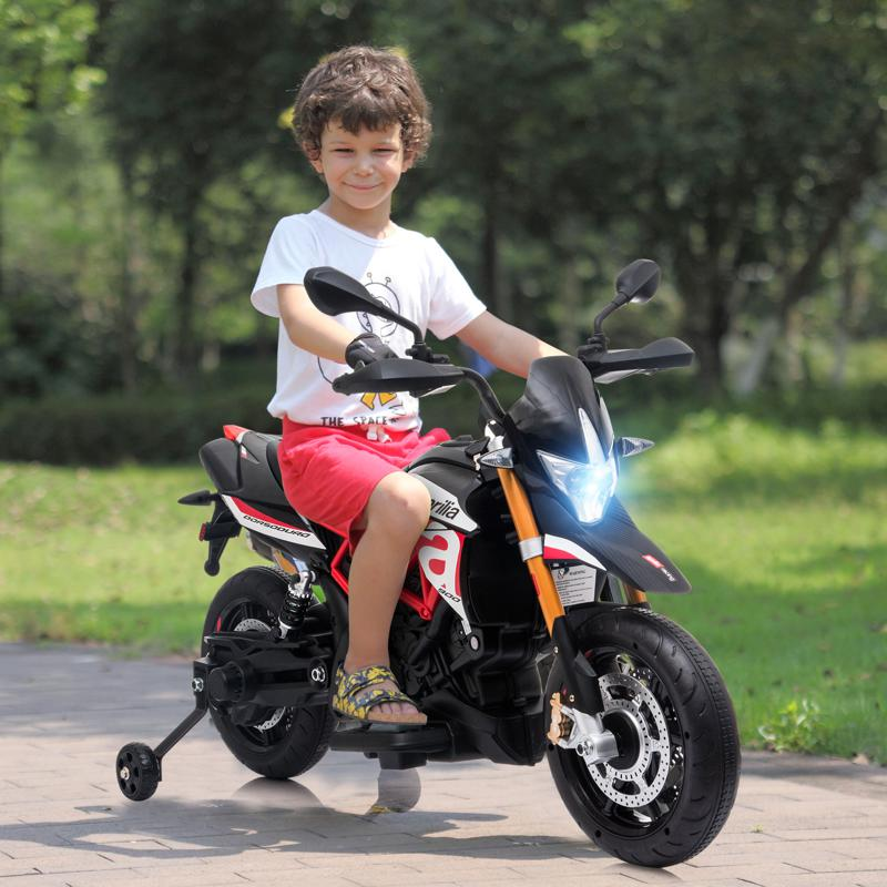 amazing electric kids motorcycle with training wheels