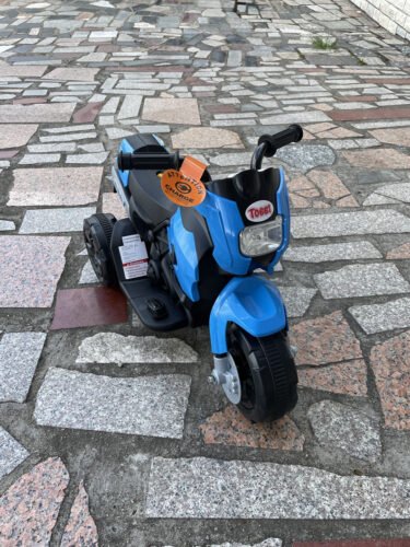 6V Battery Power Ride On Motorcycle for Kids, Blue photo review