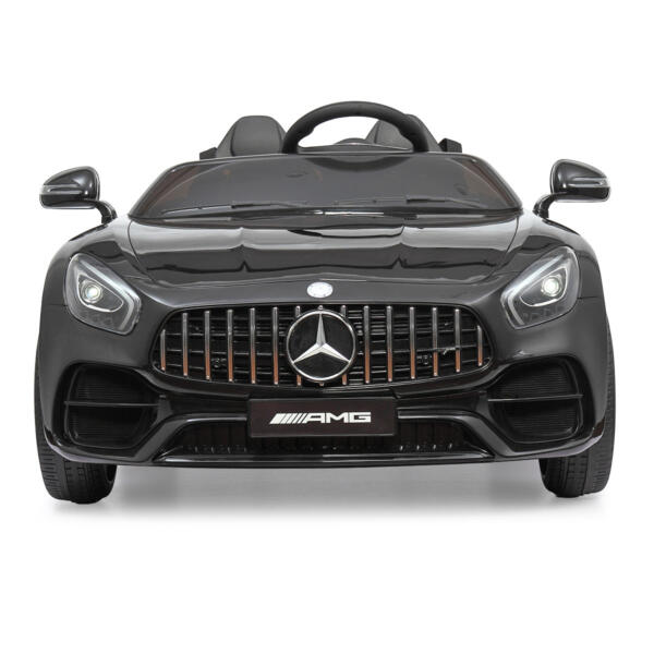 Mercedes Benz Licensed 12V Kids Electric Ride On Car with 2 Seater, Black TH17B0374 1