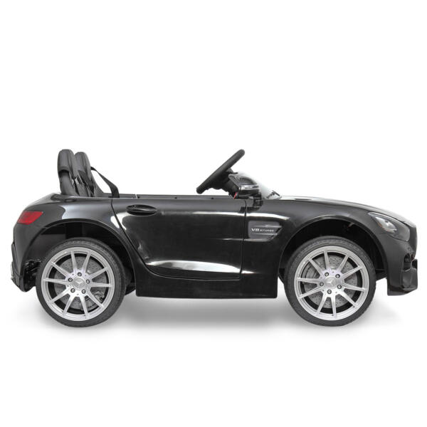 Mercedes Benz Licensed 12V Kids Electric Ride On Car with 2 Seater, Black TH17B0374 10