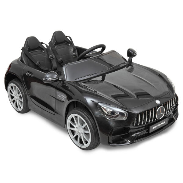 Mercedes Benz Licensed 12V Kids Electric Ride On Car with 2 Seater, Black TH17B0374 36