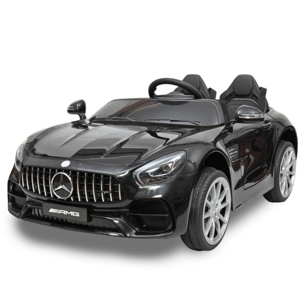 Mercedes Benz Licensed 12V Kids Electric Ride On Car with 2 Seater, Black TH17B0374 41