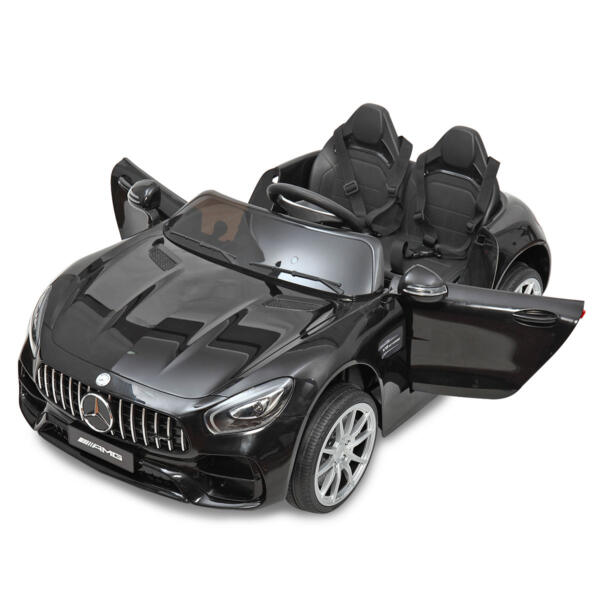 Mercedes Benz Licensed 12V Kids Electric Ride On Car with 2 Seater, Black TH17B0374 44