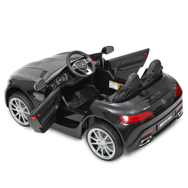 Mercedes Benz Licensed 12V Kids Electric Ride On Car with 2 Seater, Black TH17B0374 48