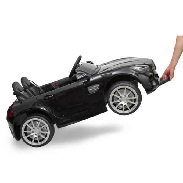 Mercedes Benz Licensed 12V Kids Electric Ride On Car with 2 Seater, Black TH17B0374 54