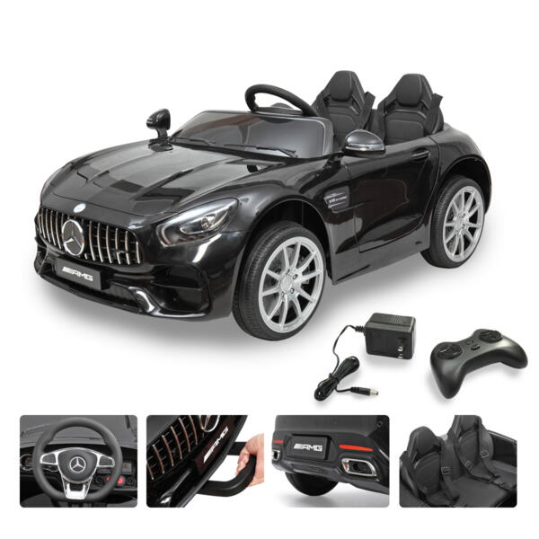 Mercedes Benz Licensed 12V Kids Electric Ride On Car with 2 Seater, Black TH17B0374 67