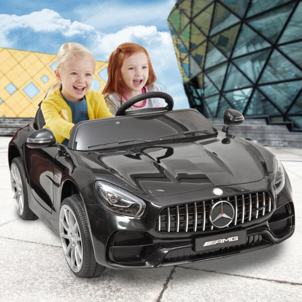 Mercedes Benz Licensed 12V Kids Electric Ride On Car with 2 Seater, Black TH17B0374 75
