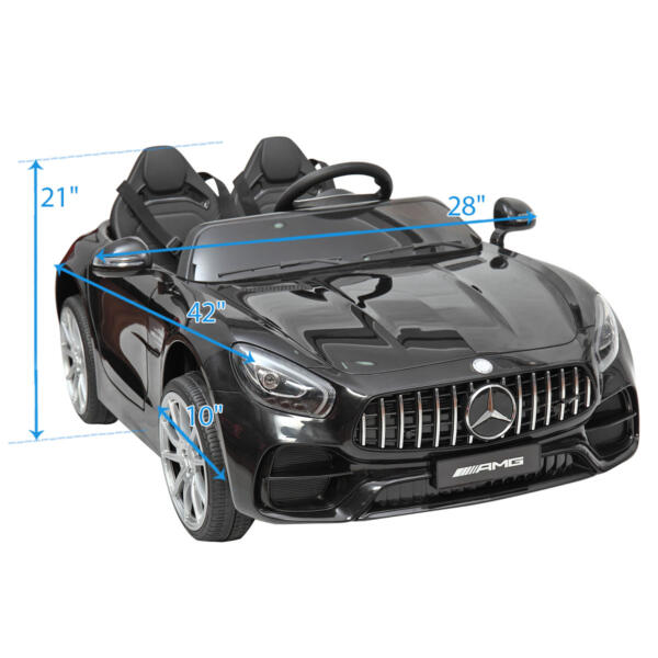 Mercedes Benz Licensed 12V Kids Electric Ride On Car with 2 Seater, Black TH17B0374 79