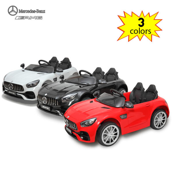 Mercedes Benz Licensed 12V Kids Electric Ride On Car with 2 Seater, Black TH17B0374 ty1