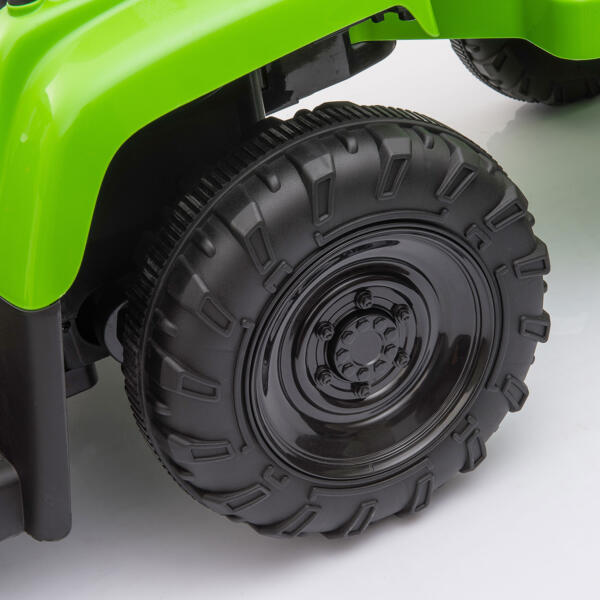 12v Battery-Powered Tractor with Trailer, Green TH17H0486