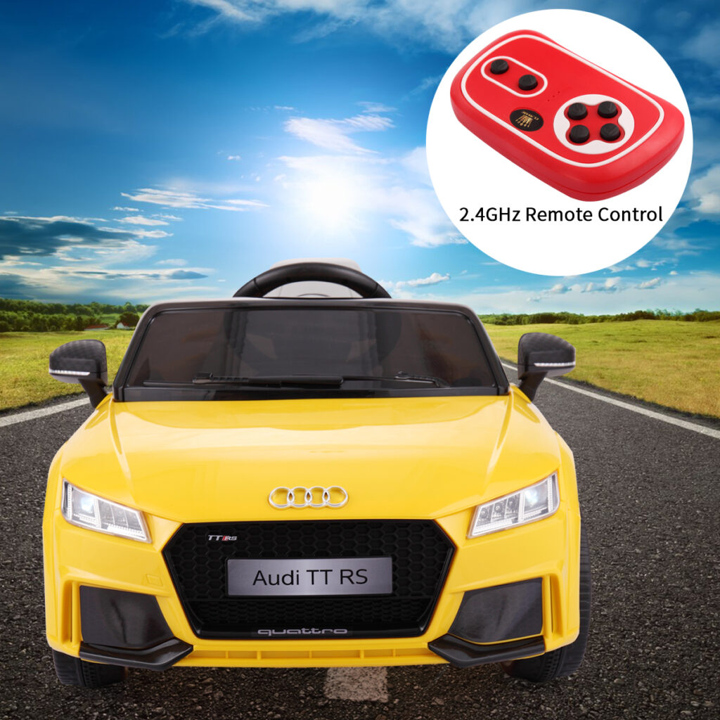 Audi TT RS Ride On Car For Kids With Remote Control, Yellow TH17K0181 1
