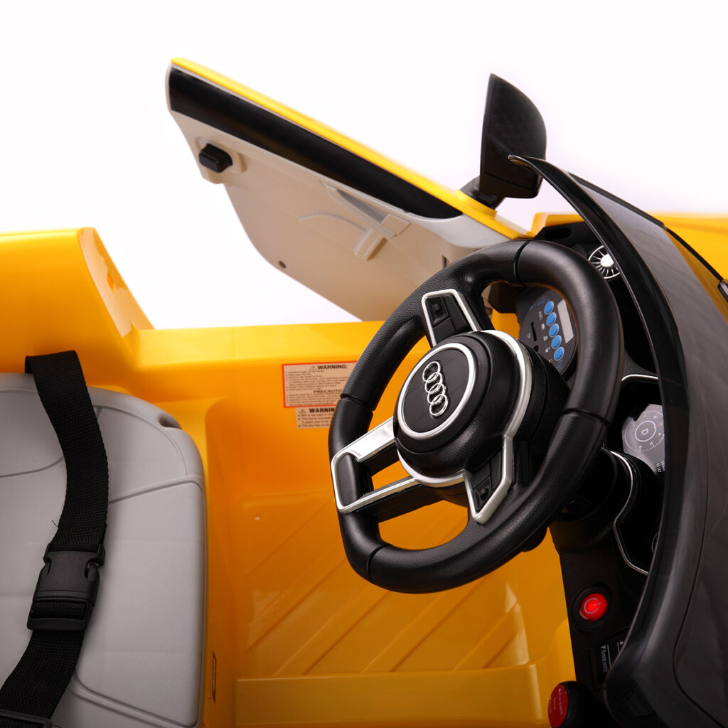 Audi TT RS Ride On Car For Kids With Remote Control, Yellow TH17K0181 28