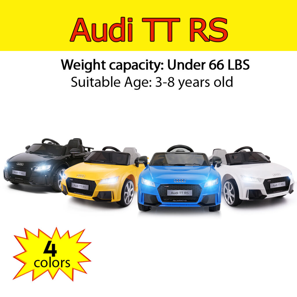 Audi TT RS Ride On Car For Kids With Remote Control, Blue TH17K0361 58