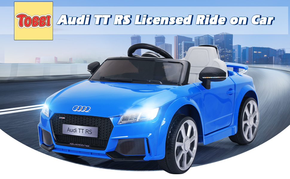 Audi TT RS Ride On Car For Kids With Remote Control, Blue TH17K0361A970X6001