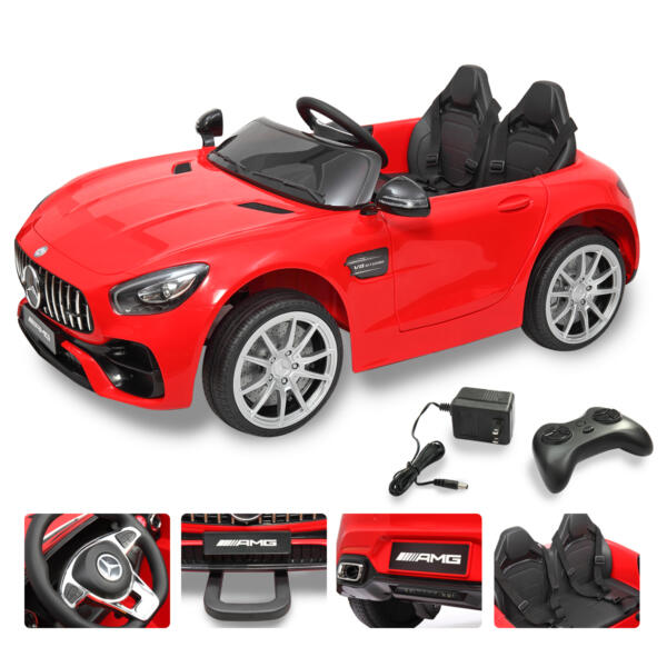 Mercedes Benz Licensed 12V Kids Electric Ride On with 2 Seater, Red TH17L0380 71