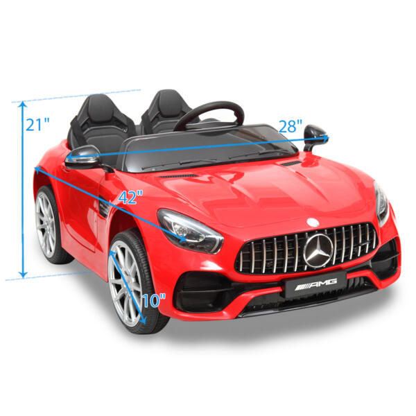 Mercedes Benz Licensed 12V Kids Electric Ride On with 2 Seater, Red TH17L0380 80