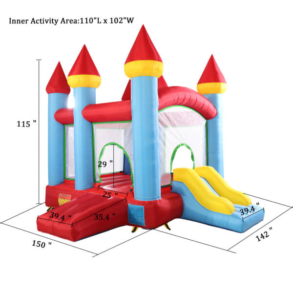 Inflatable Bounce House Jumping Castle with Slide TH17M0543 cct 1