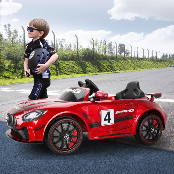 12V Electric Licensed Mercedes Benz AMG GT Kid Ride on Car, Red TH17N0472 cj2