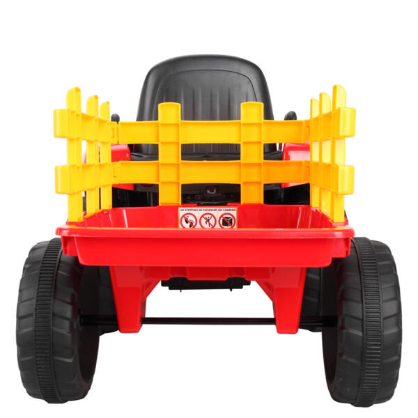 12v Battery-Powered Tractor with Trailer, Red TH17N04903