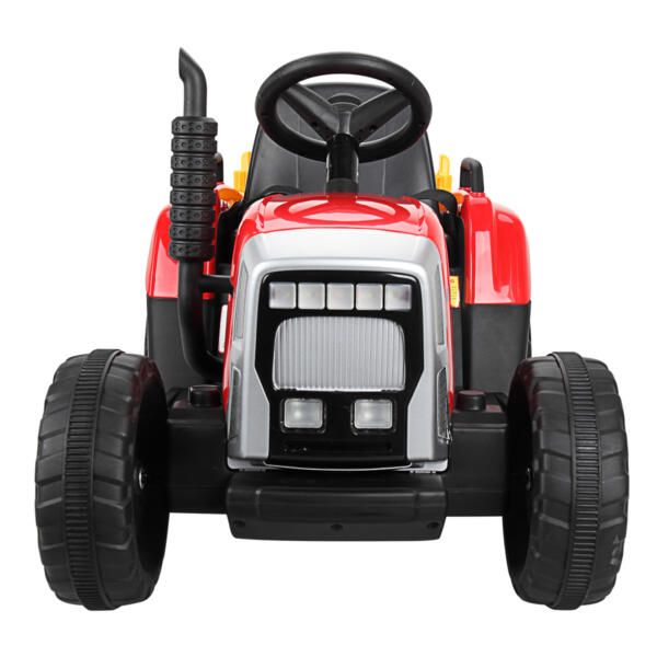 12v Battery-Powered Tractor with Trailer, Red TH17N04906