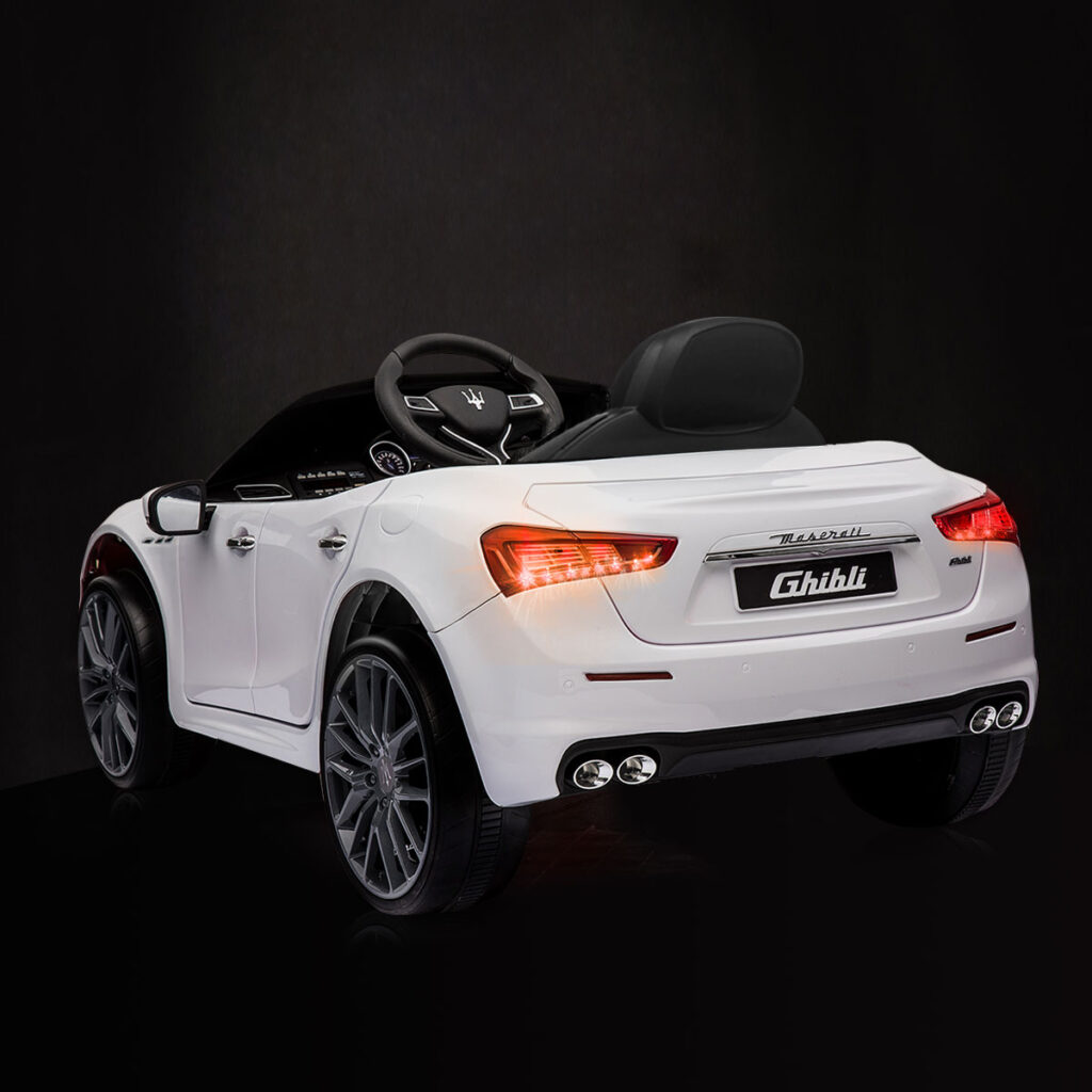 Maserati Kids Car 12V Ride On With Remote, White TH17P023902