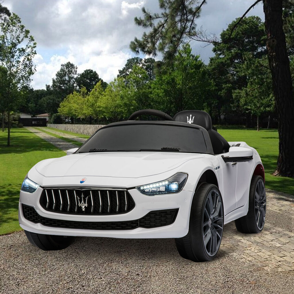 Maserati Kids Car 12V Ride On With Remote, White TH17P023913