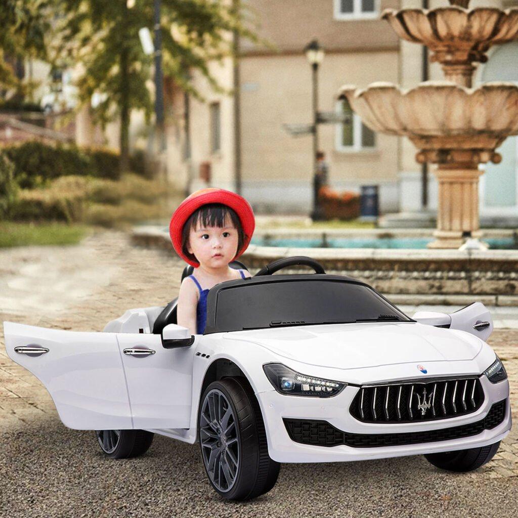 Maserati Kids Car 12V Ride On With Remote, White TH17P023914