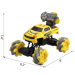 Gesture Sensing RC Stunt Car for Kids, Yellow TH17P0833 cct