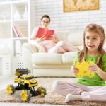 Gesture Sensing RC Stunt Car for Kids, Yellow TH17P0833 cj2