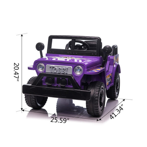 6V Realistic Toy Truck for Toddlers w/ Horn, Purple TH17P0869 cct