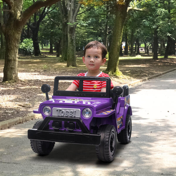 6V Realistic Toy Truck for Toddlers w/ Horn, Purple TH17P0869 cj3
