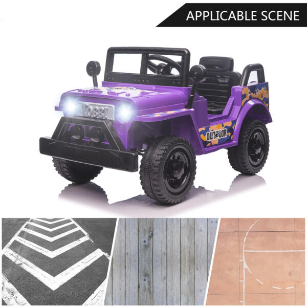 6V Realistic Toy Truck for Toddlers w/ Horn, Purple TH17P0869 zt3