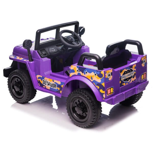 6V Realistic Toy Truck for Toddlers w/ Horn, Purple TH17P086911