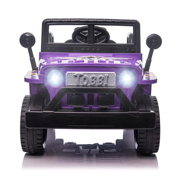 6V Realistic Toy Truck for Toddlers w/ Horn, Purple TH17P08692